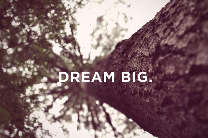 """""""Sonhe grande"""". Imagem: reprodução da internet."""